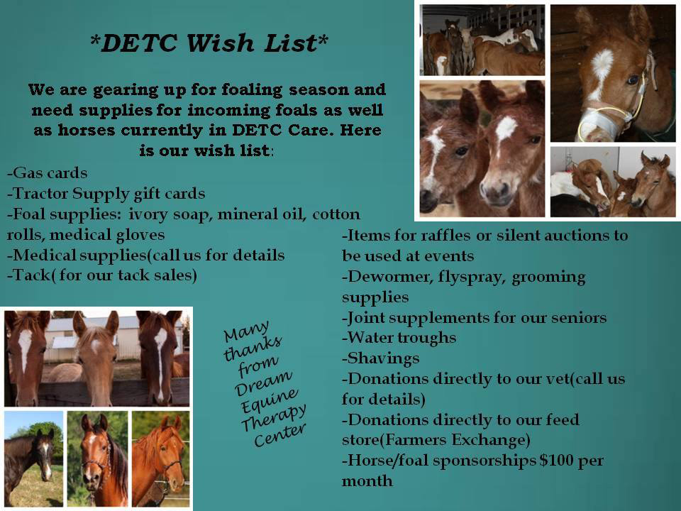 DETC Wish List